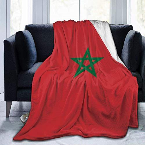 Coperta in Pile Bandiera del Marocco Coperte da Letto Leggere in Microfibra Letto Super Morbido Accogliente Divano di Lusso Tappeti Caldi per Yoga Coperte da Lancio L