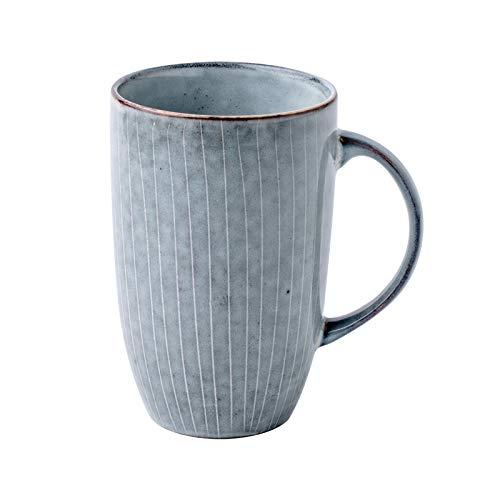 HRDZ Taza de Agua Creativa de Gran Capacidad Taza de cerámica a Rayas Taza de café Grande Retro literaria