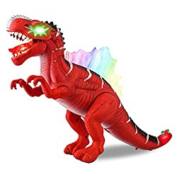 Dinosaur Electronic Kids Toy Roar Sounds Noises LED Light Up Walking Realistic