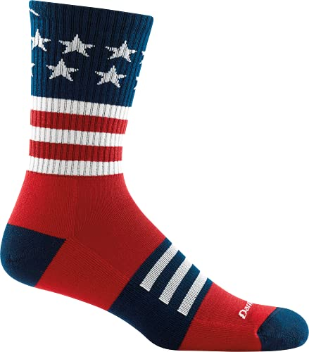 Darn Tough Captain Stripe Micro Crew Lightweight Sock with Cushion - Men's Stars and Stripes X-Large