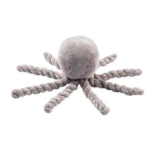 Nattou Kuscheltier Oktopus, Für Neugeborene und Frühchen, 23 cm, Lapidou, Grau