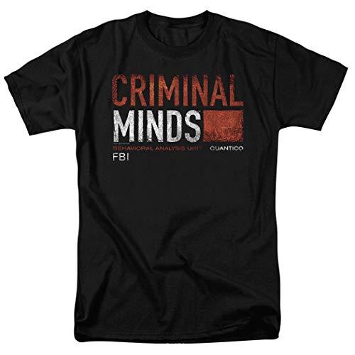 Criminal Minds FBI CBS T Shirt & Stickers (Medium) Black