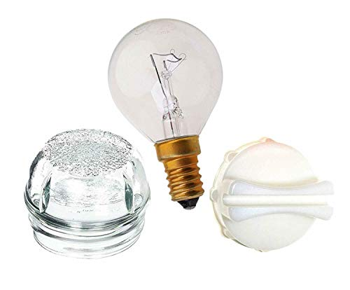 Utiz Oven Lamp Glass Light Bulb with Cover & Removal Tool For Bosch Neff Siemens