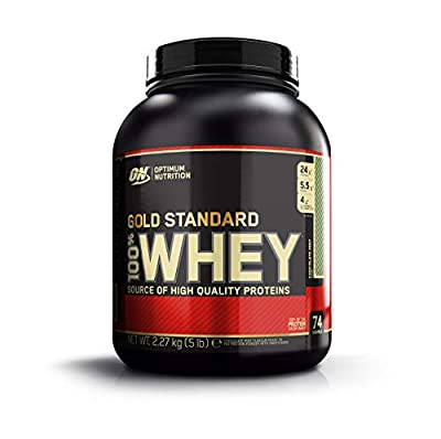 Optimum Nutrition Gold Standard Whey Muscle Building and Recovery Protein Powder with Glutamine and Amino Acids, Chocolate Mint, 74 Servings, 2.27 kg