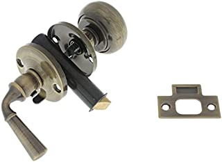 IDHBA idh by St. Simons 21250-005 Premium Quality Solid Brass Storm Screen Door Latch, Antique