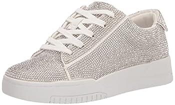 Jessica Simpson Women s Silesta Sparkle Sneaker White 10