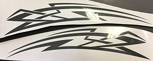 2x Autoaufkleber Motorrad Seitenaufkleber Truck LKW Aufkleber Car Design Tribal Shocker Futur 30cm in anthrazit