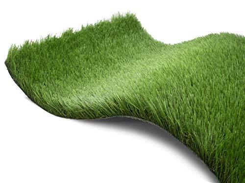 Kunstrasen Rasen-Teppich Meterware - JAZZ, 2,00m x 3,00m, Hochwertiger, UV-Beständiger, Wasserdurchlässiger Outdoor Bodenbelag für Balkon, Terrasse und Garten