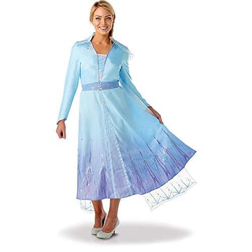RUC7O|#Rubie's Elsa Frozen2 Adulto Costume, Donna, Azzurro, S