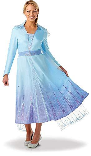 Rubies - Disfraz oficial de Disney Frozen 2, Elsa de lujo, para adultos, talla mediana, para mujer
