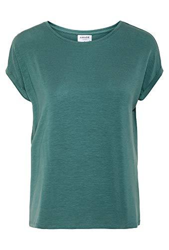 VERO MODA Damen VMAVA Plain SS TOP GA NOOS T-Shirt, North Atlantic, XL