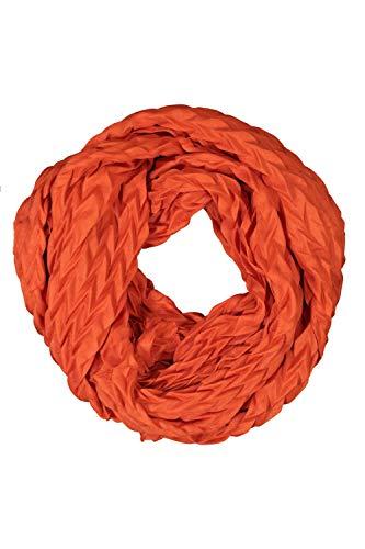 GINA LAURA Damen Schal, Plissee-Qualität, Twill-Optik kupferrot 1Size 750919670-1