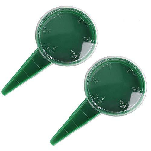 2 dispensadores de semillas para plantar semillas, esfera de 5 ajustes diferentes para plantar, jardinería, herramientas
