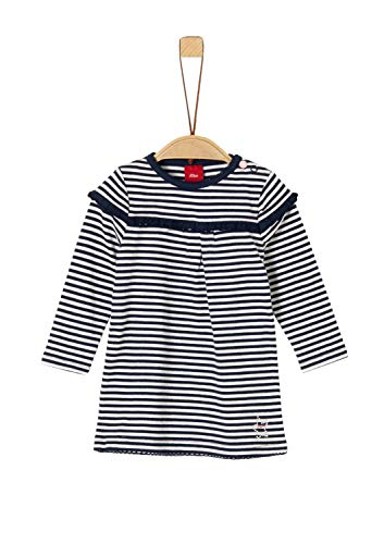 s.Oliver RED LABEL Unisex - Baby Geringeltes Jerseykleid night blue stripes 86