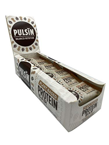 Pulsin Healthy Snack Natural Plant Based Vegan Free From Peanut Choc Chip Protein Bar18x50g