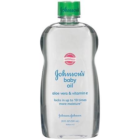 Johnson's Baby Oil, Aloe Vera and Vitamin E, 20 Ounce (Pack of 2)