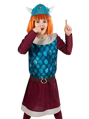 Maskworld Disfraz de Vicky el vickingo para niños - 4 Piezas (Tamaño: 110/116)