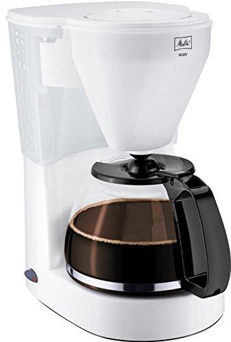 Melitta 1010-01 wh Easy Kaffeefiltermaschine -Glaskanne -Abschaltautomatik-Tropfstopp -Schwenkfilter weiß