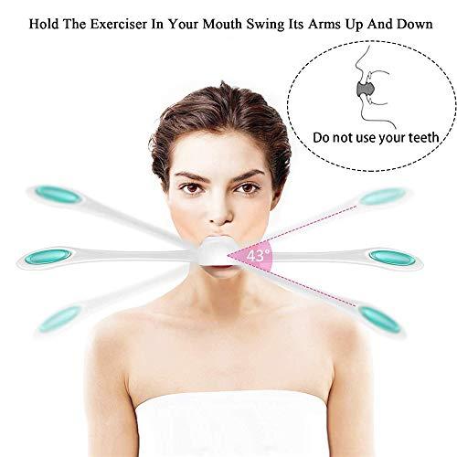 Gesichtsfitness Weiß GESICHTS FITNESS MASCHINE, Vovotrade Gesichts Fitness Muskel Trainer Gesichts übung Antialterungs glatt (weiss)