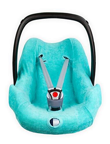 Haton / SerenoTex Baby BabyFit ** FROTTEE Schonbezug 4 Jahreszeiten ** Universal Bezug für Babyschale wie z.B. Maxi Cosi u.a. (Türkis Fresh)