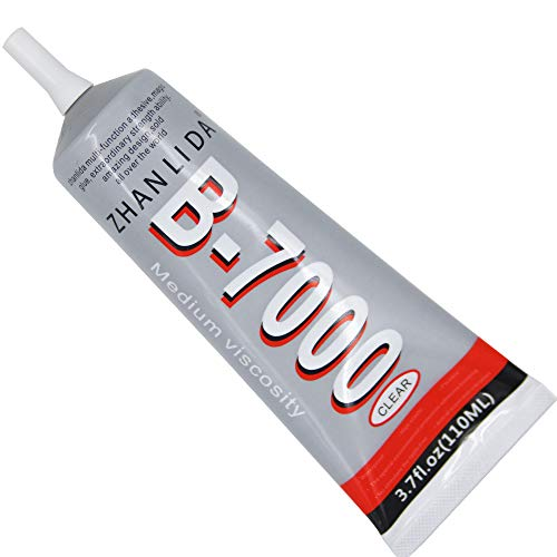 MMOBIEL B-7000 110 ML Mehrzweck Flüssig Kleber Industrie Extrem Stark High Performance Adhesive Glue Semi Fluid Transparent Klebstoff 110ML / 3,7 OZ Tube Inkl. Prezisions Dosier Spitze