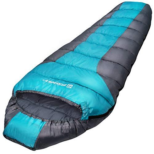 Bessport Schlafsack kleines & Light Outdoor Wasserabweisend Mumienschlafsack 3 Saison für Camping Bergsteigen und Trekking