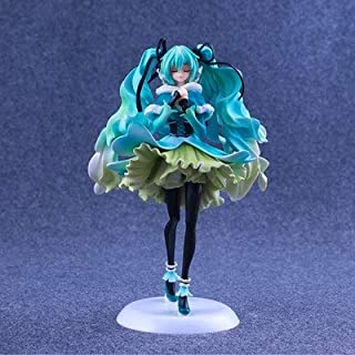 HAPP TRIX Hatsune Miku Figure Boutique Toy 1/7 Snow in Summer Hatsune Miku Action Figure Big Vocaloid Miku Model Doll Collectibles 28cmwith Retail Box