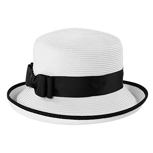 Sombrero para sombrilla/Decoración de Arcos/Parte Superior Plana/Borde Ajustable/Cara modificada/Luz Transpirable/Circunferencia de la Cabeza Longitud Ajustable Blanco Sombrero