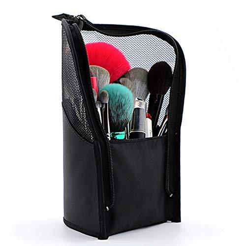 Tutyuity - Bolsa para Pinceles de Maquillaje, Color Negro, Bolsa organizadora al vacío, práctica Malla, maletín de Almacenamiento (Black)