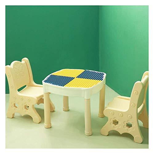 AJH Child Table Chair 1 Table 2 Stühle Game Building Block Desk Multifunktionale Verwendung Stabiler Stuhl