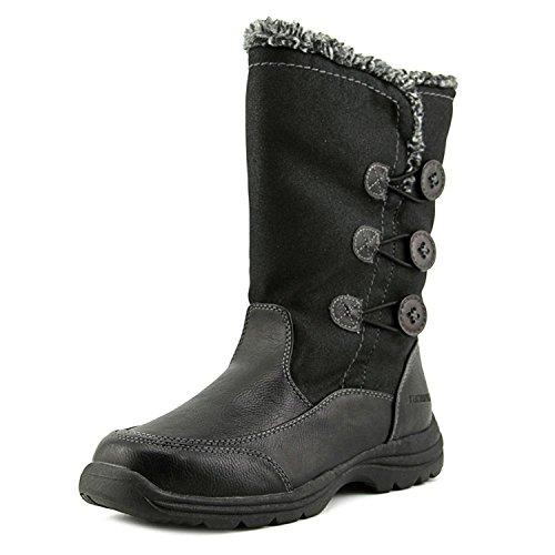 Weatherproof Delta Snow Boots Water Resistant Lightweight Warm Black Winter Boots For Women