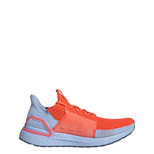 adidas Ultraboost 19 M - Tenis de correr para hombre, naranja (Rojo solar/Rojo solar/Azul Brillante), 42.5 EU