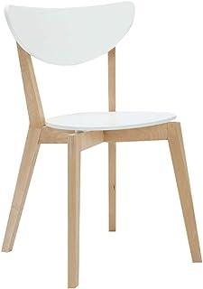 Silla de respaldo minimalista moderna, silla respaldo blanco y tablero de asiento ovalado, se puede utilizar como silla de oficina, sillón, silla de escritorio para computadora Tamaño: 47x49x80cm