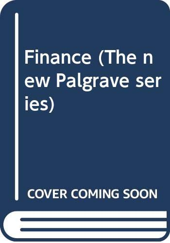 Finance (The new Palgrave series)の詳細を見る