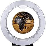 ZSMLB Globo terráqueo de decoración Globo magnético de 6 'con luz LED, Globo Amarillo Giratorio automático para educación y decoración Adornos de Globo de levitación magnética