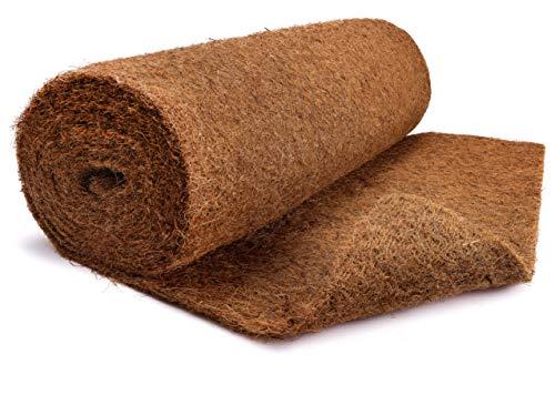Tapis de coco en 100 % fibres de coco – Rouleau de 100 cm x 5 m sans latex – Protection d