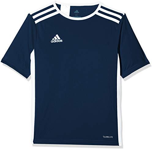 adidas Entrada 18 JSY Teamtrikot, Maglietta Bambino, Blu (Dark Blue/White), 11-12 anni