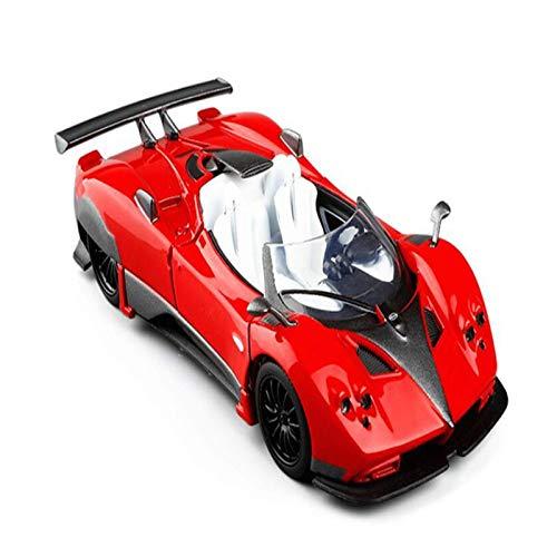 BECCYYLY Diecast Modelo Car 5 Pulgadas Escala Metal Modelo Car para Pagani para LA COLECCIÓN DE Coche DE Zonda Pantalla Modelo Roadster Alloy Toy Boys Gifts Toys (Color: Naranja) wmpa (Color : Red)