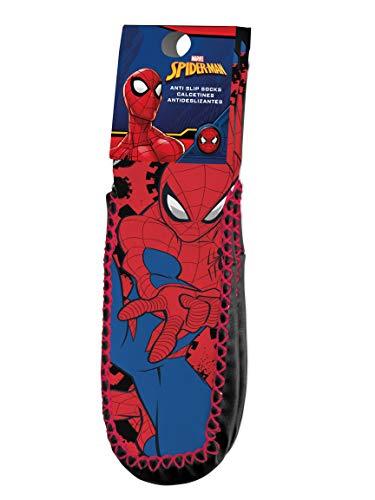 Kids Licensing   Calcetines Infantiles - Calcetines Diseño Spiderman - Calcetines Antideslizantes - Personajes Marvel - Tejido Transpirables - Elástico en Arco Licencia de Producto Oficial