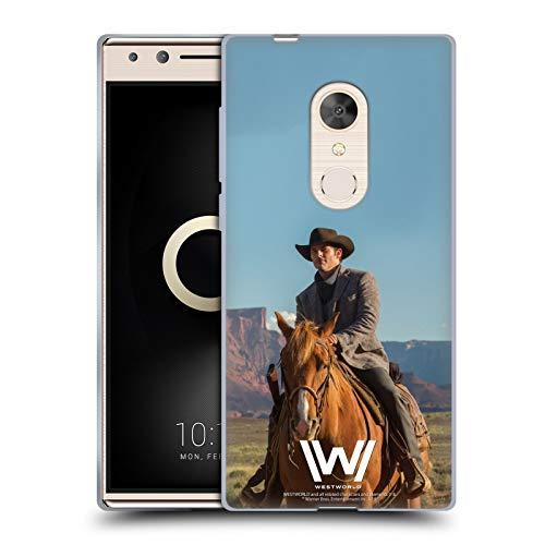 Head Case Designs Offizielle Westworld Teddy Flood Darsteller Soft Gel Handyhülle Hülle Huelle kompatibel mit Alcatel 5 (2018)