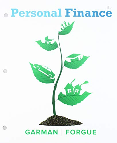 Bundle: Garman's Personal Finance, Loose-Leaf Version, 13th + MindTapV2.0 Finance, 1 term (6 months) Printed Access Card