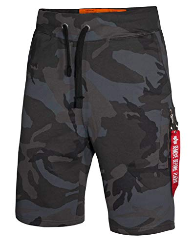 Alpha Ind. X-Fit Cargo Short Black camo- XXL