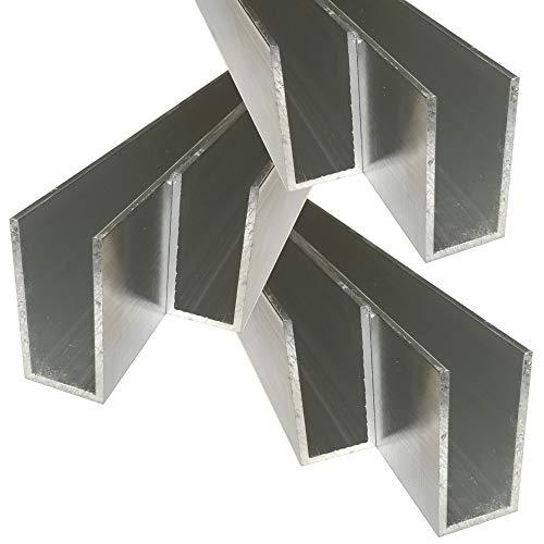 Alu U-Profil 60 x 30 x 60 x 3,0 mm Aluminium AlMgSi0,5 U-Stab Profil Aluprofil U-Stange (100 cm)