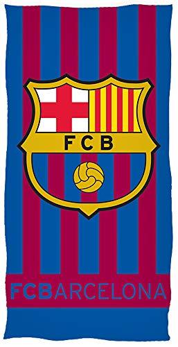FC Barcelona Badetuch Blau Rot 100% Baumwolle Velours Fussball Strandtuch Primera Division Fan Strandlaken Badelaken Stadion Camp Nou Saunatuch Duschtuch Messi ter Stegen FCB pass. z. Bettwäsche 461