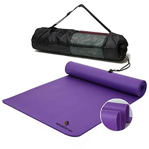 Smallrun Esterilla Yoga Esterilla Pilates Antideslizante 10mm Alfombrilla de Yoga Colchoneta de Yoga Esterilla Deporte Yoga Mat para Pilates Yoga Fitness 183x61cm (10MM-Morado)