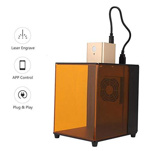 Lasergravureprinter, draagbare slimme 800mW lasergraveermachine met APP-bediening en doe-het-zelfmodus, huishoudelijke kunstambachtelijke doe-het-zelf minigravure voor iOS / Android, ondersteuning voor BMP / G-code (EU)