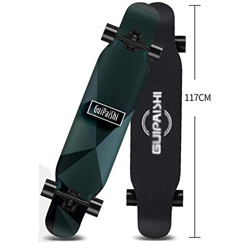 MISS YOU Skateboard Junior Anfänger Longboard Skateboard doppelseitig farbigen Sands (Color : B)