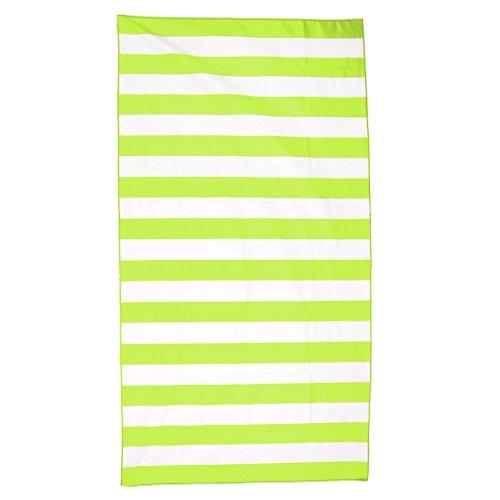 N/A/a Asciugamano Ad Asciugatura Rapida per Piscina da Viaggio in Spiaggia, Campeggio, Palestra - Verde Fluo