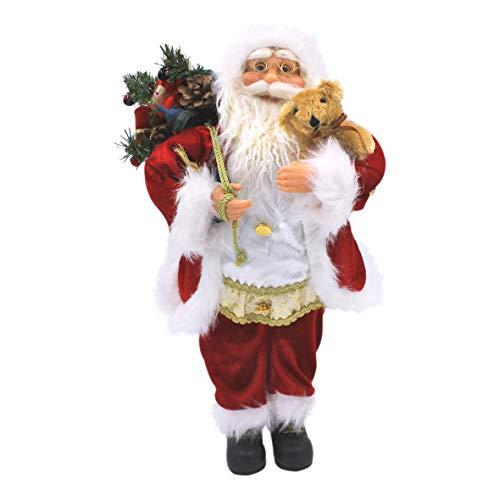 The Christmas Workshop 81440, kerstman standfiguur, traditioneel pak, 60 cm, rood