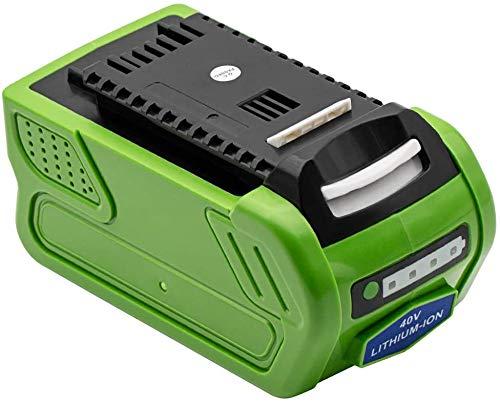 KINGTIANLE Greenworks Tools Akku 40V 2000mAh Li-Ion 40 V 2 Ah wiederaufladbarer leistungsstarker Akku passend für 29252 20202 22262 25312 25322 20642 22272 27062 21242 (Nicht für Gen 1)